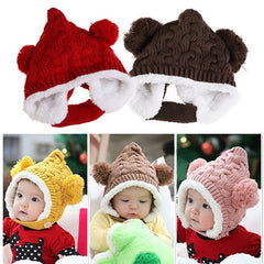 Winter Fur Infant Ear Protector Cute Hat - BoardwalkBuy - 2