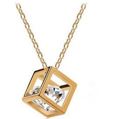 Cube Crystal Heart Zircon Necklace - BoardwalkBuy - 2