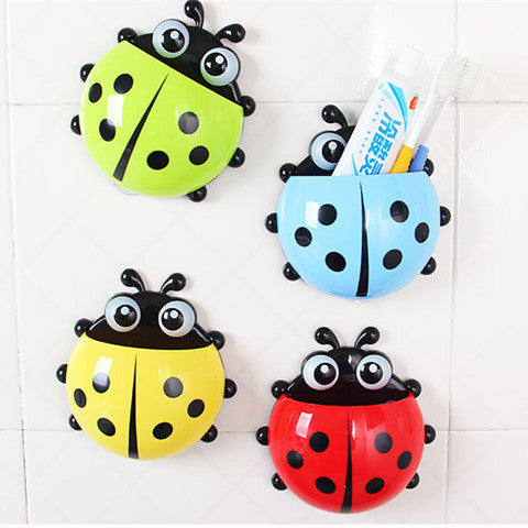 Cute Ladybug Cartoon Sucker Toothbrush Holder - BoardwalkBuy