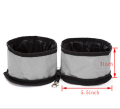 Grey Oxford Cloth Folding Waterproof Cat Bowl
