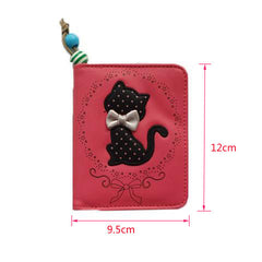 Lovely Cat Bowknot Women Coin Purse