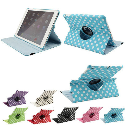 Polka Dots Leather Case for iPad Air - BoardwalkBuy