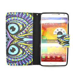 Owl Leather Case for Samsung Galaxy Note 4 - BoardwalkBuy - 3