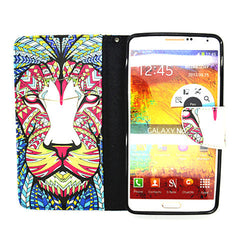 Leather Stand Case for Samsung Galaxy Note 4 - BoardwalkBuy - 3