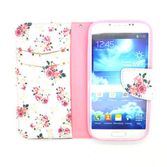 Floral Leather Case for Samsung Galaxy S4 - BoardwalkBuy - 4