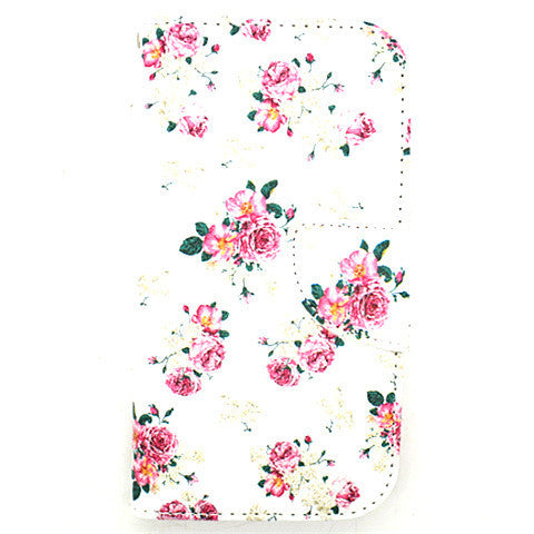 Floral Leather Case for Samsung Galaxy S4
