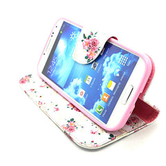Floral Leather Case for Samsung Galaxy S4 - BoardwalkBuy - 3