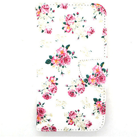 Floral Leather Case for Samsung Galaxy S5