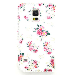 Floral Leather Case for Samsung Galaxy S5 - BoardwalkBuy - 2
