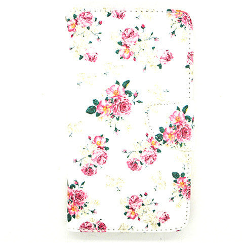 Floral Leather Case for Samsung Galaxy Note 4
