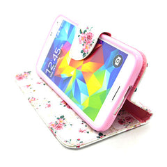 Floral Leather Case for Samsung Galaxy S5 - BoardwalkBuy - 3