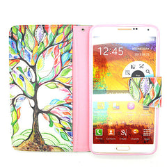 Cartoon Tree Leather Case for Samsung Note 4 - BoardwalkBuy - 4