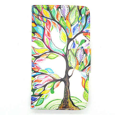 Cartoon Tree Leather Case For Samsung Note 4