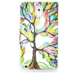 Cartoon Tree Leather Case for Samsung Note 4 - BoardwalkBuy - 2