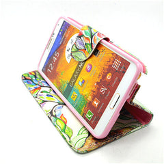 Cartoon Tree Leather Case for Samsung Note 4 - BoardwalkBuy - 3
