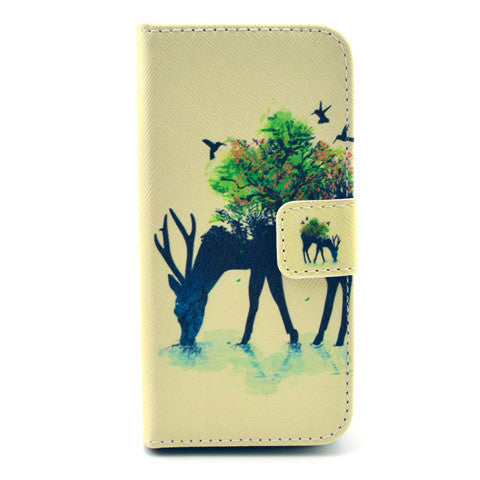 Reindeer Stand Leather Case For iPhone 5s - BoardwalkBuy - 1