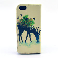 Reindeer Stand Leather Case For iPhone 5s - BoardwalkBuy - 3