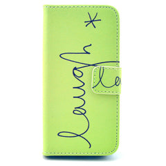 Happy Stand Leather Case For iPhone 5s - BoardwalkBuy - 1