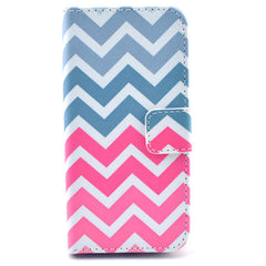 Pink waves Stand Leather Case For iPhone 5s - BoardwalkBuy - 1