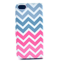 Pink waves Stand Leather Case For iPhone 5s - BoardwalkBuy - 3