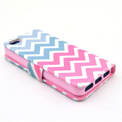 Pink waves Stand Leather Case For iPhone 5s - BoardwalkBuy - 4