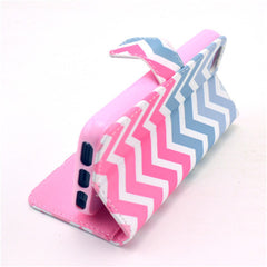 Pink waves Stand Leather Case For iPhone 5s - BoardwalkBuy - 2