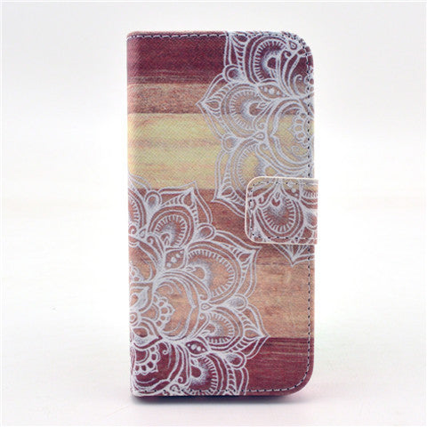 Lace Stand Leather Case For Iphone 5S