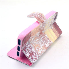 Lace Stand Leather Case For iPhone 5s - BoardwalkBuy - 2