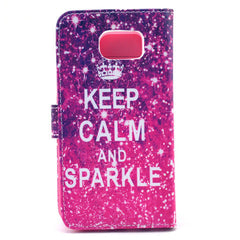 Sparkle Stand Leather Case For Samsung S6 - BoardwalkBuy - 4