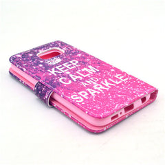 Sparkle Stand Leather Case For Samsung S6 - BoardwalkBuy - 2