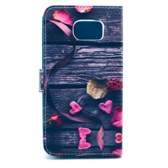 Love Bowknot Stand Leather Case  For  Samsung S6 - BoardwalkBuy - 4
