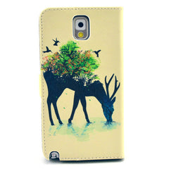 Reindeer Stand Leather Case For Samsung note3 - BoardwalkBuy - 3