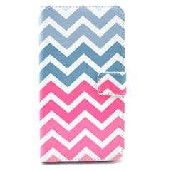 Pink waves Stand Leather Case For Samsung note3 - BoardwalkBuy - 1