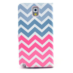 Pink waves Stand Leather Case For Samsung note3 - BoardwalkBuy - 3