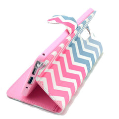 Pink waves Stand Leather Case For Samsung note3 - BoardwalkBuy - 2