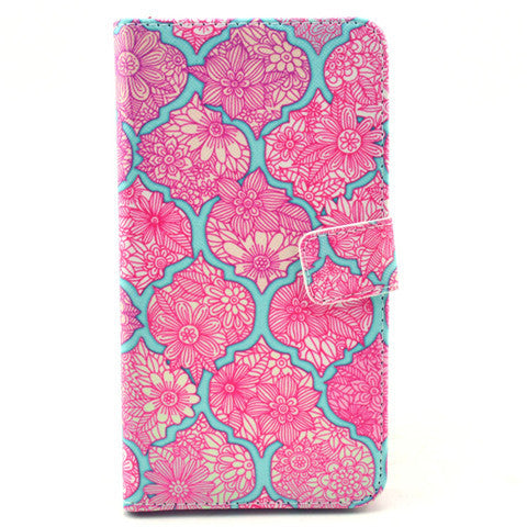 Pink Lace Stand Leather Case For Samsung note3 - BoardwalkBuy - 1