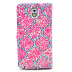 Pink Lace Stand Leather Case For Samsung note3 - BoardwalkBuy - 3