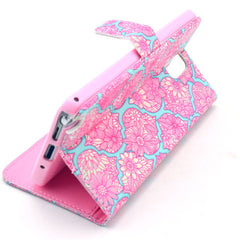 Pink Lace Stand Leather Case For Samsung note3 - BoardwalkBuy - 2