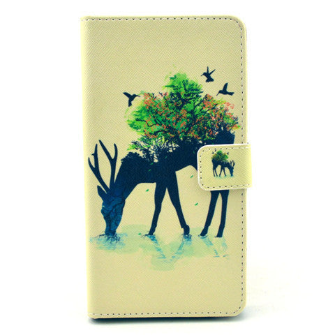 Reindeer Stand Leather Case For Samsung note4 - BoardwalkBuy - 1