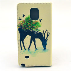 Reindeer Stand Leather Case For Samsung note4 - BoardwalkBuy - 4