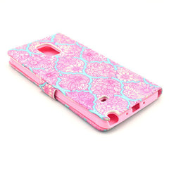 Pink lace Stand Leather Case For Samsung note4 - BoardwalkBuy - 4