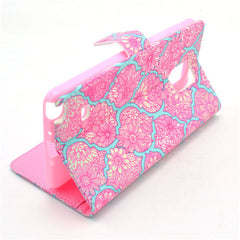 Pink lace Stand Leather Case For Samsung note4 - BoardwalkBuy - 2