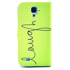 Happy  Stand Leather Case For Samsung S4 - BoardwalkBuy - 3