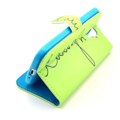 Happy  Stand Leather Case For Samsung S4 - BoardwalkBuy - 2