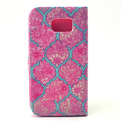 Pink Lace Stand Leather Case  For  Samsung S6 - BoardwalkBuy - 4
