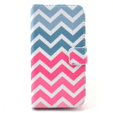 Pink waves Stand Leather Case For Samsung S4 - BoardwalkBuy - 1