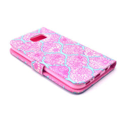 Pink Lace Stand Leather Case  For  Samsung S6 - BoardwalkBuy - 3