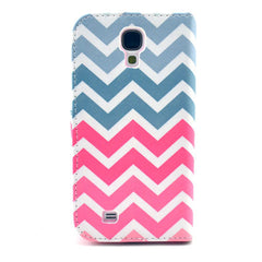 Pink waves Stand Leather Case For Samsung S4 - BoardwalkBuy - 2