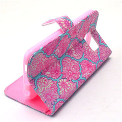 Pink Lace Stand Leather Case  For  Samsung S6 - BoardwalkBuy - 2
