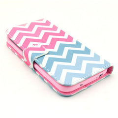 Pink waves Stand Leather Case For Samsung S4 - BoardwalkBuy - 3